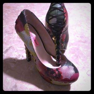 Betsey Johnson leather heels